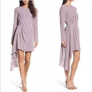 Bardot Nordstrom Dress Mauve Asymmetric Hem Stilla